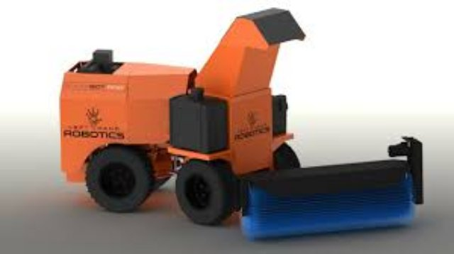 Left Hand Robotics запустила в продажу робота для уборки снега SnowBot Pro