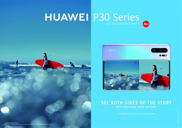 Режим съемки Dual-View в смартфонах Huawei P30 и P30 Pro теперь доступен по всему миру