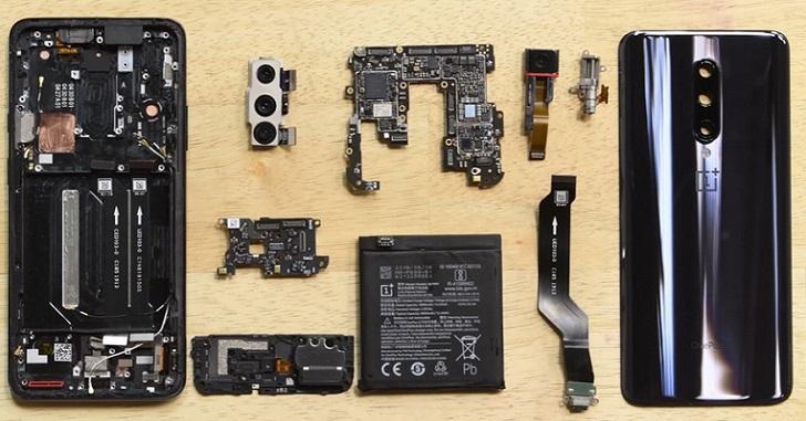 Ремонтопригодность OnePlus 7 Pro оценили в 4 балла