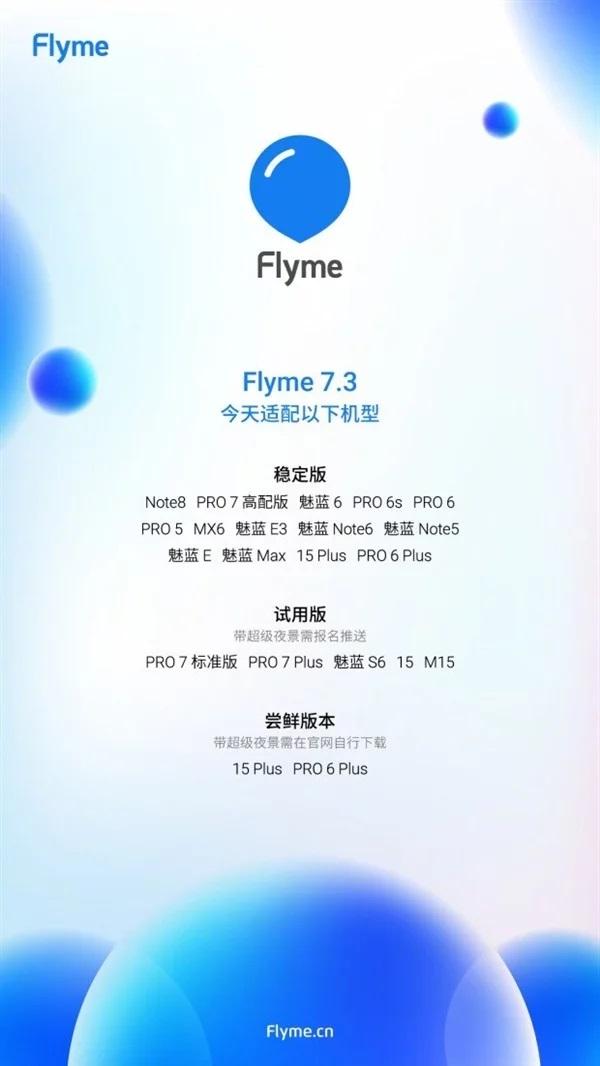 19 смартфонов Meizu получат прошивку Flyme 7.3