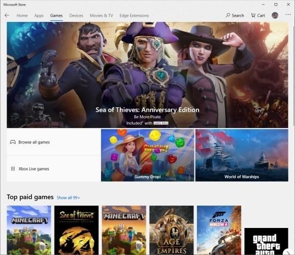 Win32-игры придут в Microsoft Store