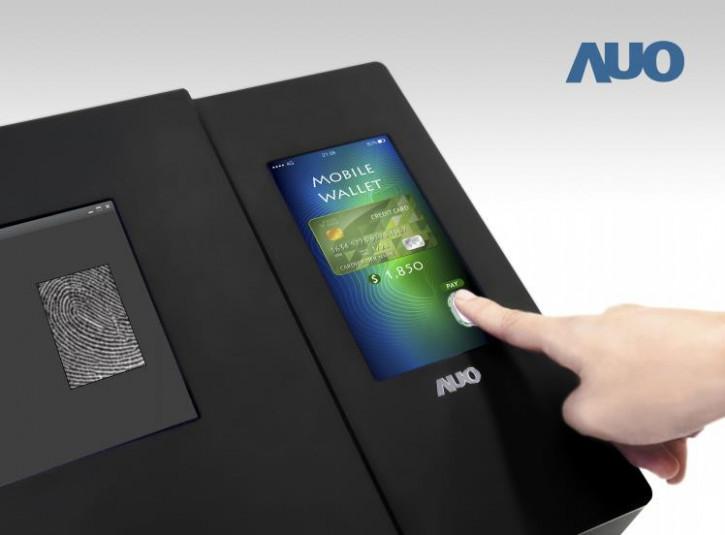 AUO представила LTPS-экран со сканером отпечатков пальцев