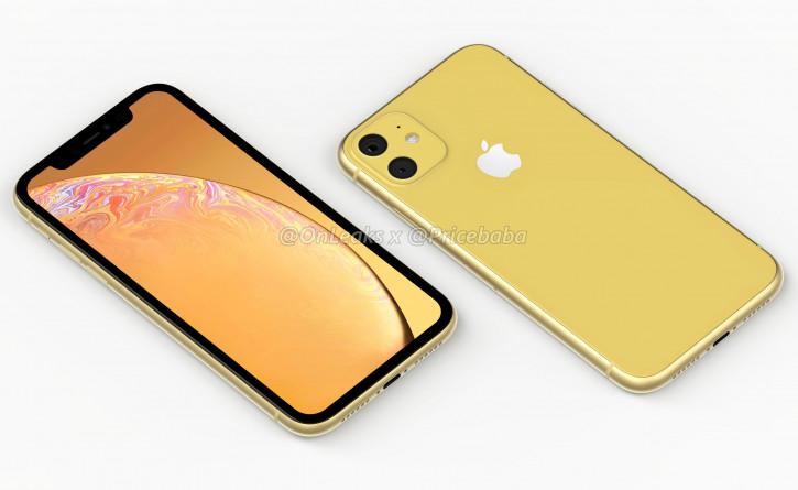iPhone XR 2019 (iPhone XIR) с двойной камерой на качественных рендерах