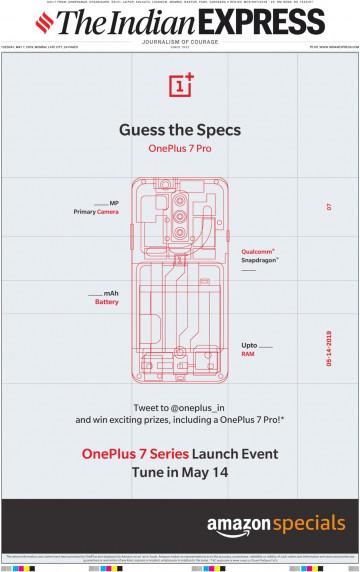 OnePlus предлагает угадать характеристики OnePlus 7 Pro