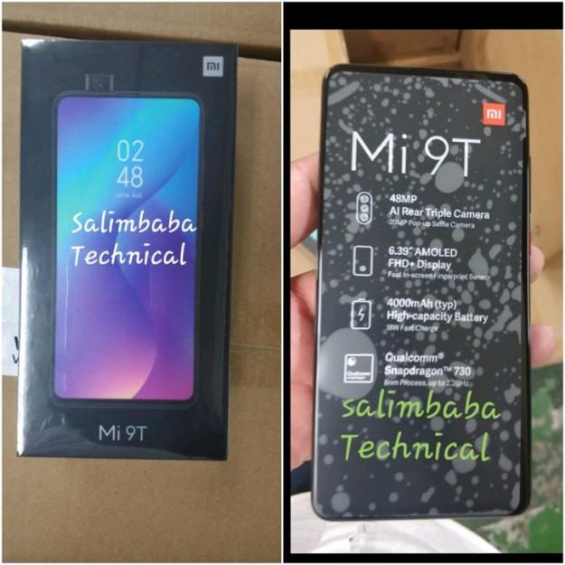 Xiaomi Mi 9T впервые на фото