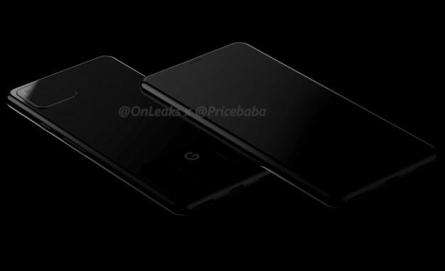 Google Pixel 4 в стиле iPhone XI на качественных рендерах