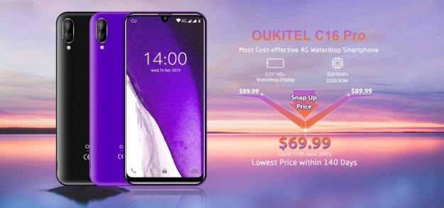 Новый Oukitel C16 Pro доступен всего за ,99: 3+32 ГБ памяти, экран 5,71 дюйма