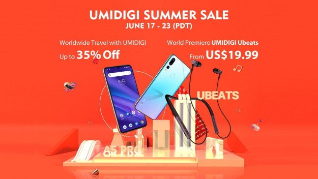 UMIDIGI снижает цены до до 35% на A5 Pro, F1 Play, Ubeats по случаю летней распродажи на Aliexpress