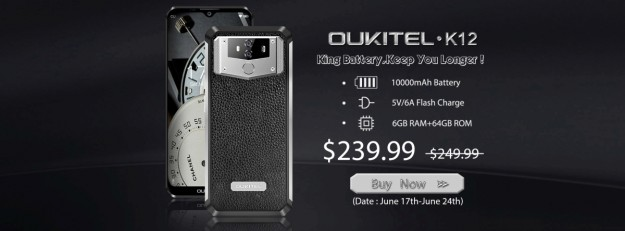 Cмартфона Oukitel K12 испытали на прочность на видео - трубка доступна в Gearbest по скидке за $239.99