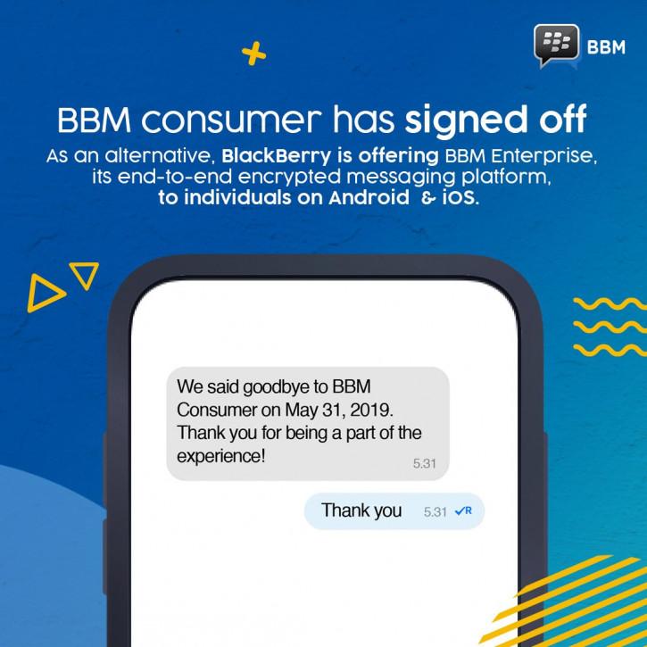 Легендарный BlackBerry Messenger прекращает свою работу