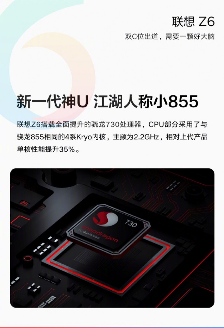 Lenovo Z6 станет конкурентом для Redmi K20