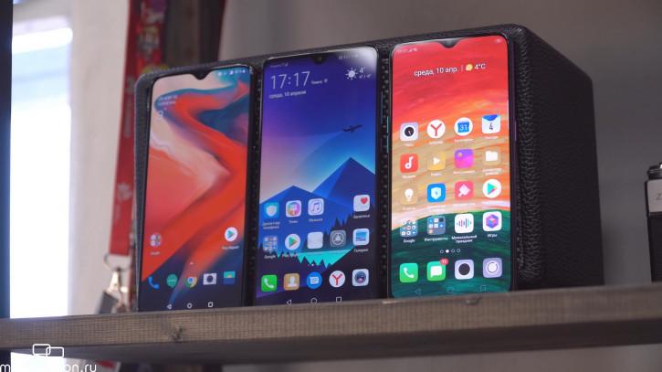 Обзор-сравнение OnePlus 6T, OPPO RX17 Pro и Huawei Mate 20