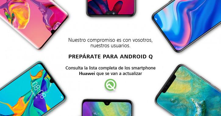 Официальный список Huawei для обновления до Android Q