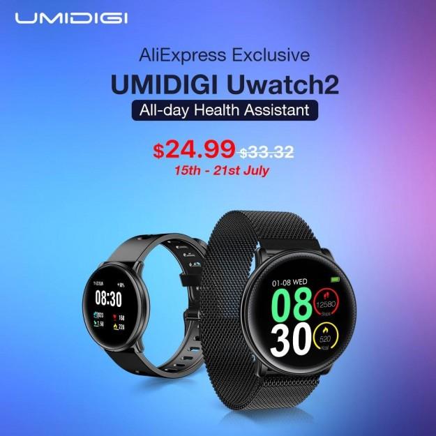 Скидка до 30%! UMIDIGI Holiday Sale стартует с открытой продажи Uwatch2