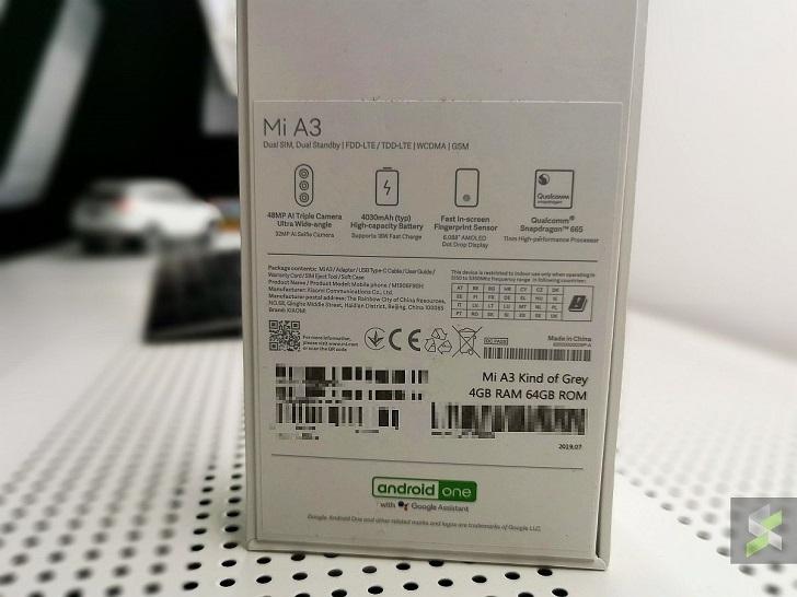 Xiaomi Mi A3 показался на реальных фотографиях