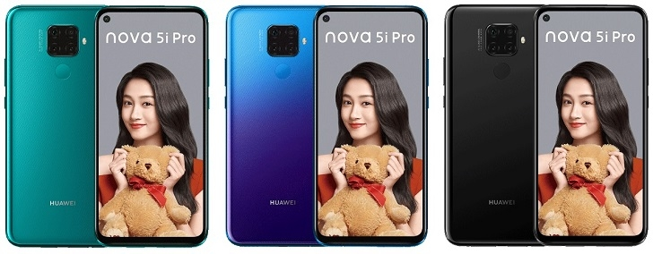 Анонсирован Huawei Nova 5i Pro – прообраз Mate 30 Lite за 320-405 долларов