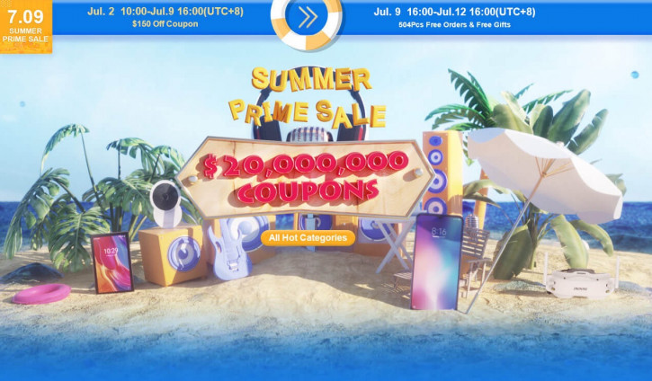 «Разогрев» большой летней распродажи в Banggood