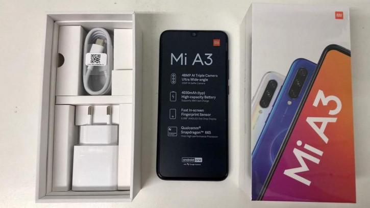 Xiaomi Mi A3: подтверждение ключевых характеристик на фото распаковки