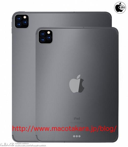 Опубликованы рендеры iPad Pro 2019 и iPad 7 — они получили многомодульные камеры