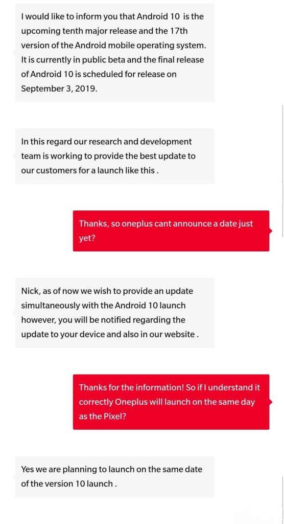 OnePlus 7 и 7 Pro могут получить Android 10 вместе с Google Pixel