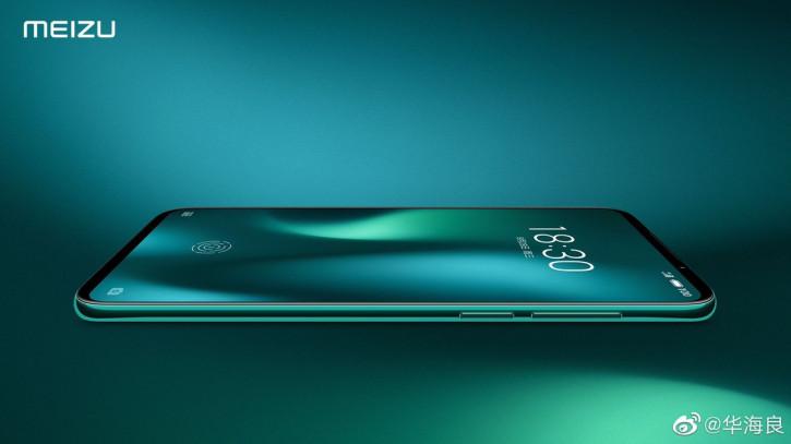 Meizu 16s Pro в зеленом цвете на рендере от руководителя Meizu