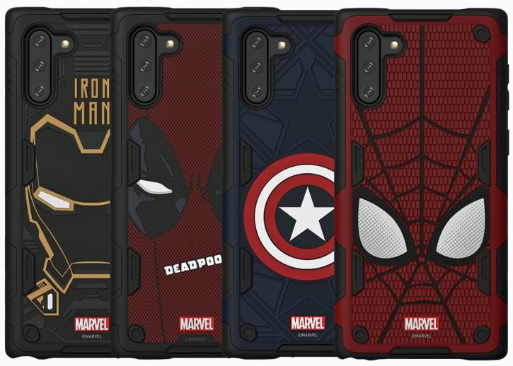 Супергеройские чехлы Marvel для Galaxy Note 10 и Note 10+ и обои к ним