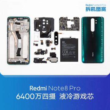 Разборка Redmi Note 8 Pro на фото