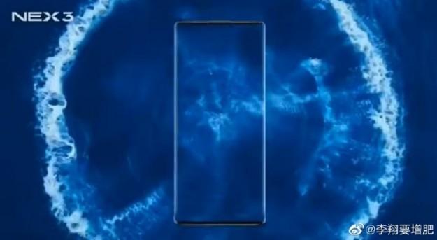Экран смартфона Vivo NEX 3 займёт почти 100 % площади лицевой панели