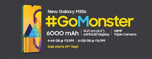 Смартфон Galaxy M30s получил огромный аккумулятор, хорошую камеру и производительную платформу