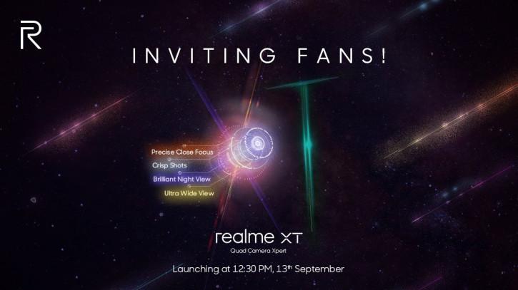 Дата анонса Realme XT с 64-Мп Quad-камерой