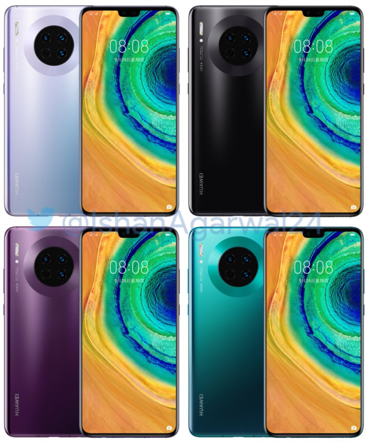 Рендеры, видео и все характеристики стандартной версии Huawei Mate 30