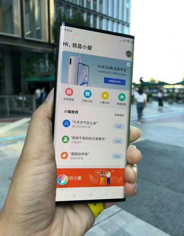 Живые фото и видео футуристичного концептофона Xiaomi Mi Mix Alpha