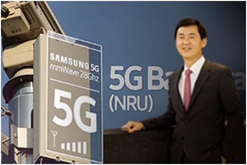 Samsung выходит на первое место на рынке телекоммуникационного оборудования 5G