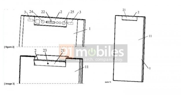 ZTE запатентовала смартфон с вращающимся блоком сенсоров