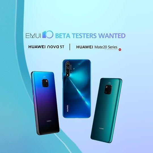 Глобальная бета-версия EMUI 10 доступна для Huawei Mate 20, Mate 20 Pro и Nova 5T