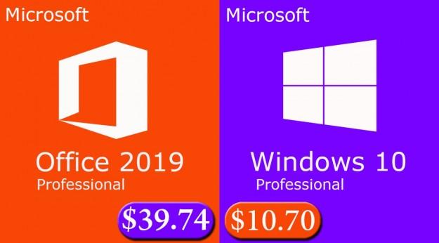 Скидка на программы: Windows 10 Pro - $10.7, Office 2019 Pro - $39.74 и Office 365 Pro - $23.51 от MMORC.COM