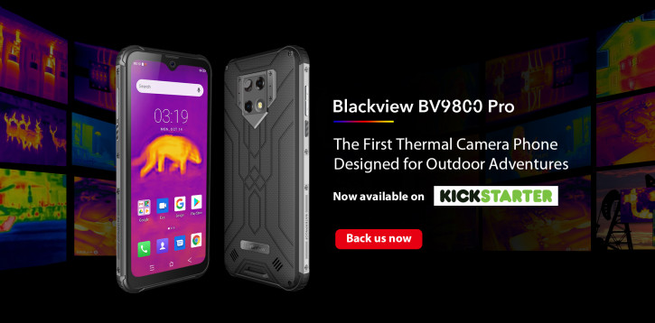 Blackview BV9800 Pro c термальной камерой уже на Kickstarter (цена)