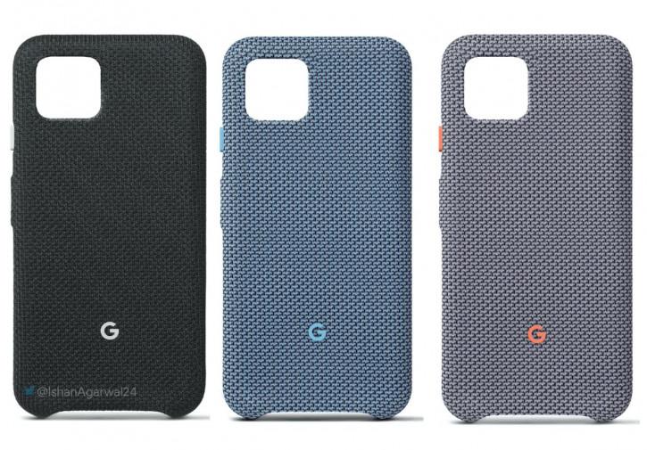 Рендер официальных чехлов для Google Pixel 4 и 4 XL в трех цветах