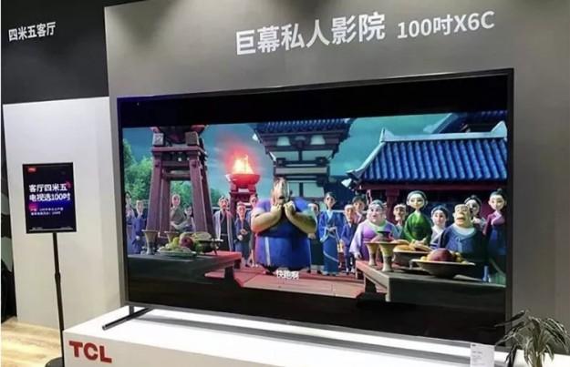 Смарт-телевизор TCL диагональю 100 дюймов стоит  400