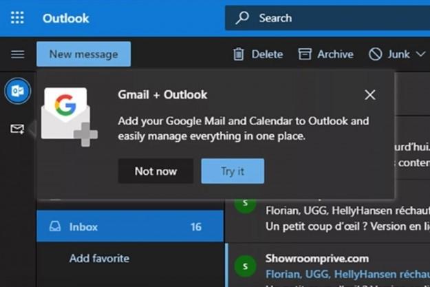 Microsoft тестирует интеграцию сервисов Google с Outlook.com