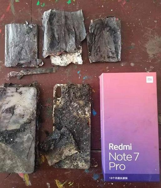 Xiaomi Redmi Note 7 Pro сгорел у пользователя на кровати