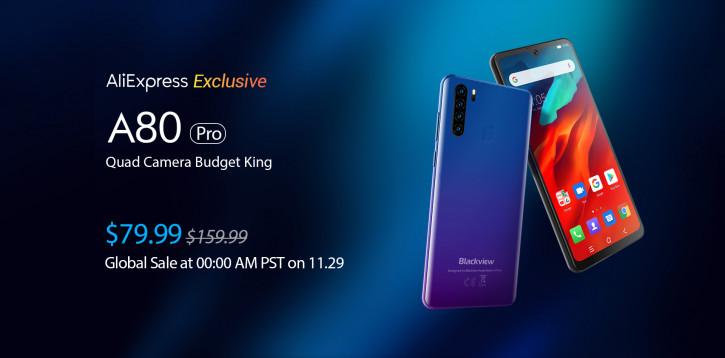 Blackview A80 Pro – смартфон с Quad-камерой за $79,99