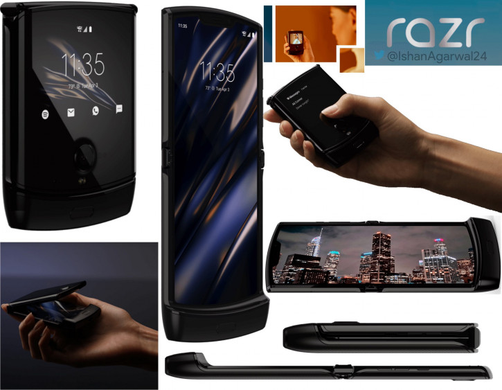Больше рендеров и промо-фото складного Motorola Razr