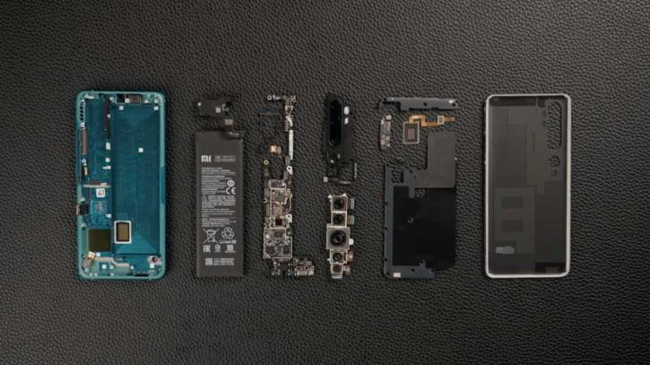 Разборка Xiaomi CC9 Pro со 108-Мп пента-камерой на видео