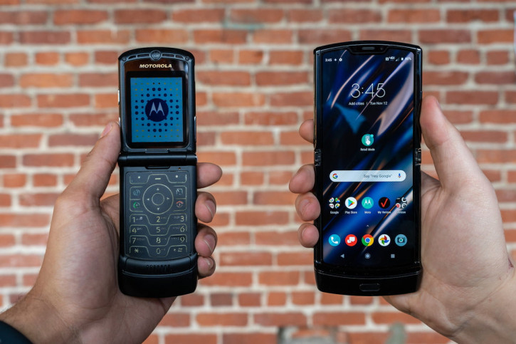 Живые фото и видео Motorola Razr, сравнение с классическим Razr 3