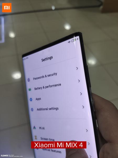 В сети опубликованы характеристики Xiaomi Mi MIX 4