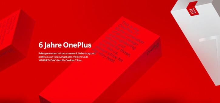 OnePlus исполнилось 6 лет: скидки и подарки к OnePlus 7 Pro и OnePlus