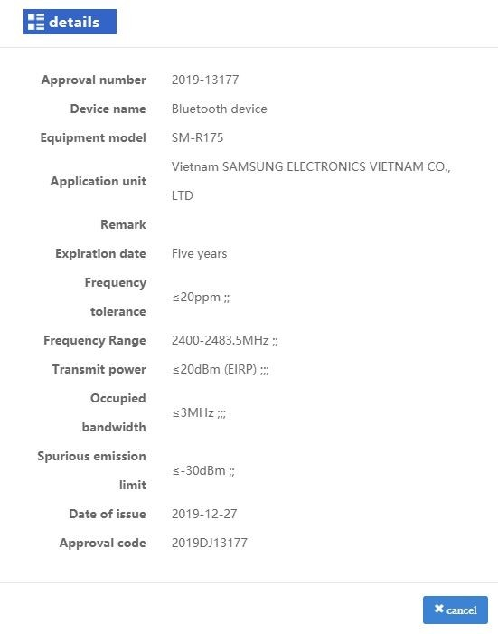 Гарнитура Samsung Galaxy Buds+ прошла сертификацию