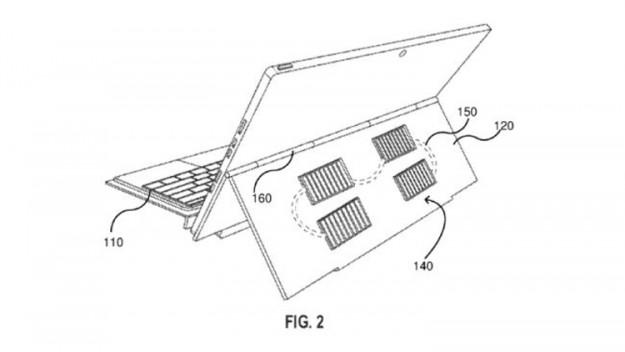 Microsoft проектирует обложку с солнечной батареей для планшетов Surface