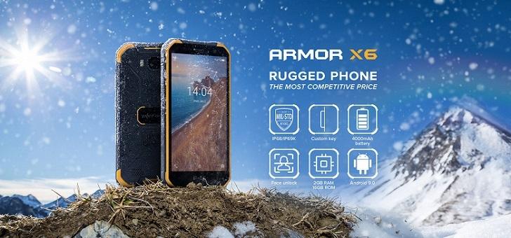 В продажу поступил защищённый смартфон Ulefone Armor X6 за 100 долларов